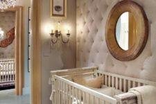 21 diamond upholstery nursery wall to make the space cozier