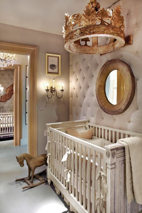 diamond upholstery nursery wall to make the space cozier