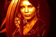 22 Katniss Everdeen pumpkin lantern