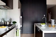 22 even a small kitchen can be decorated in this scheme, just don't be excessive with black
