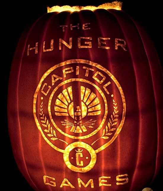 Hunger Games pumpkin decor