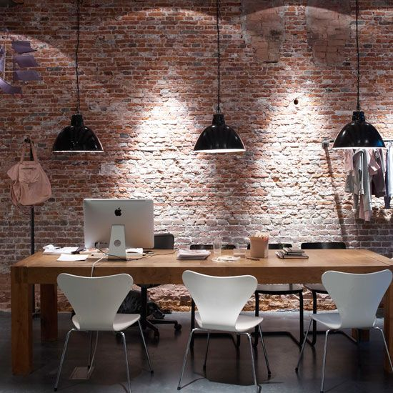 Complaints Against Idea Design Studio: 34 Home Office Designs With Exposed Brick Walls