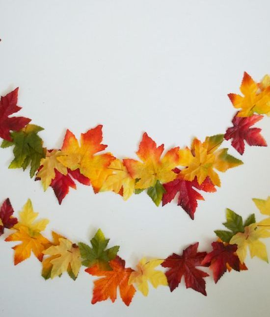 silk leaf garland
