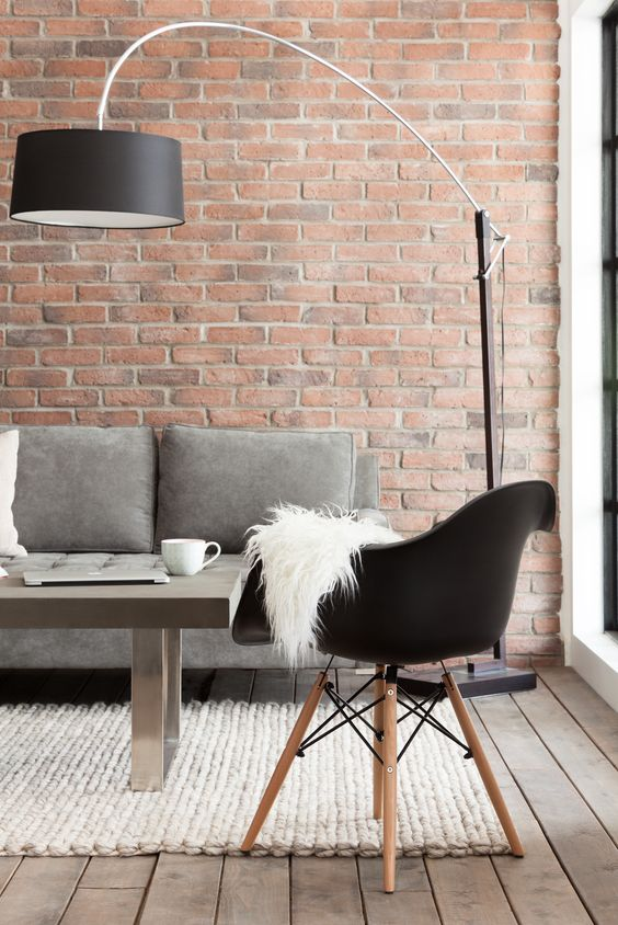 brick wall imitation for an eye-catching look