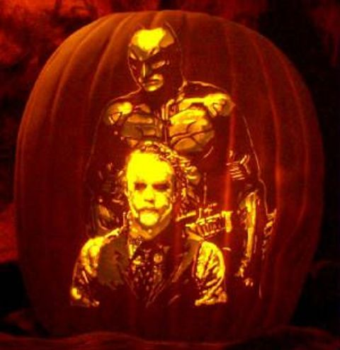 Batman and Joker pumpkin carving for fans