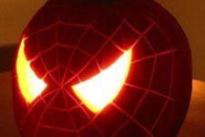 25 Spiderman pumpkin lantern