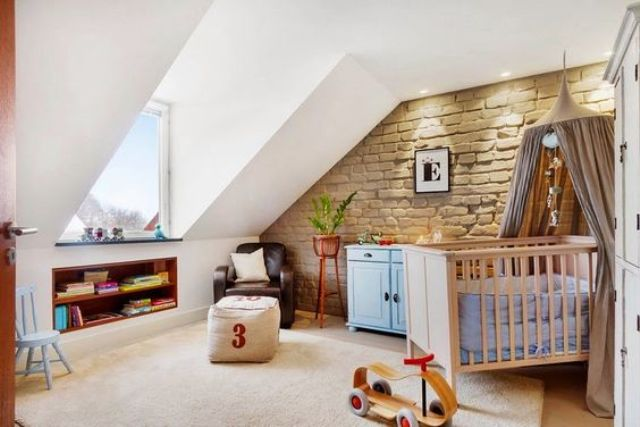 32 edgy brick walls ideas for kids 39 rooms digsdigs Chambre sous combles