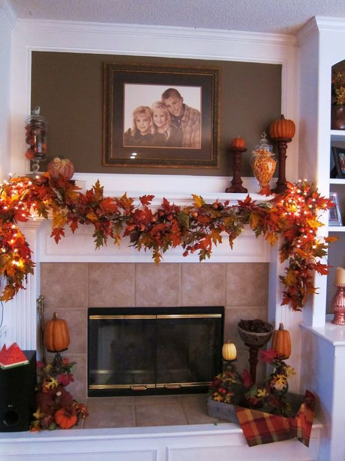 Decorating Ideas > 37 Awesome Garland Ideas To Welcome The Fall  DigsDigs ~ 143239_Transform The Look Fireplace Decorating Ideas