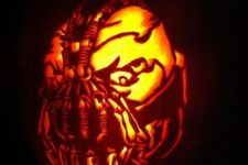 26 Bane pumpkin carving for Batman movies fans