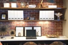 26 brick panels will let you have trendy decor without much effort