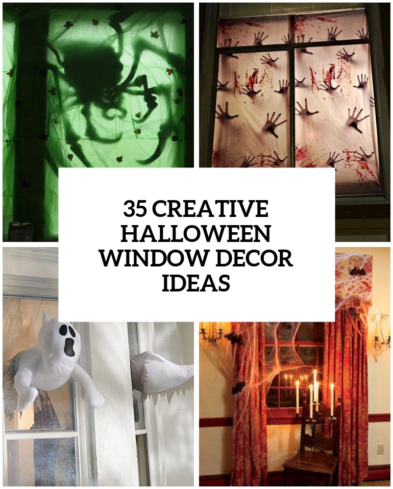 Vintage halloween window decorations - Creative Halloween Window Decor Ideas Cover
