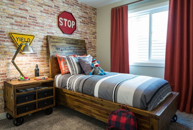 32 Edgy Brick Walls Ideas For Kids\' Rooms - DigsDigs