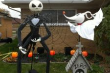 27 Nightmare Before Christmas scene made up with large figures