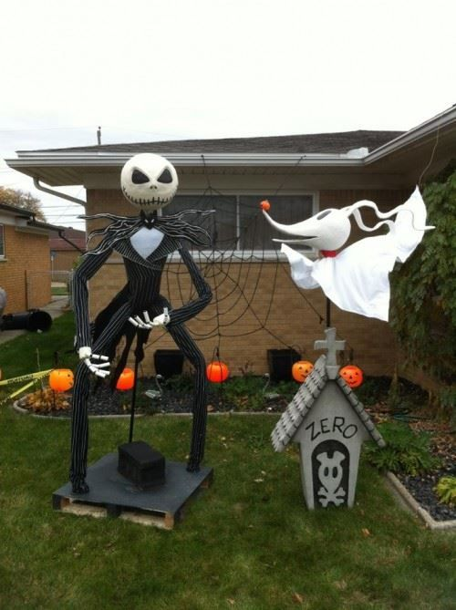 Nightmare Before Christmas scene made up with large figures