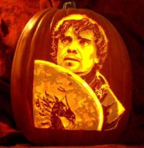 Tyrion Lannister pumpkin carving for The Song Of Ice And Fire fans