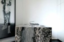 27 black marble kitchen countertop to die for