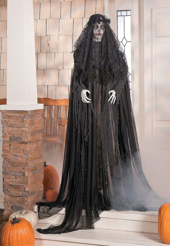 faux witch is going to strike and frighten your Halloween guests or tick-or-treaters