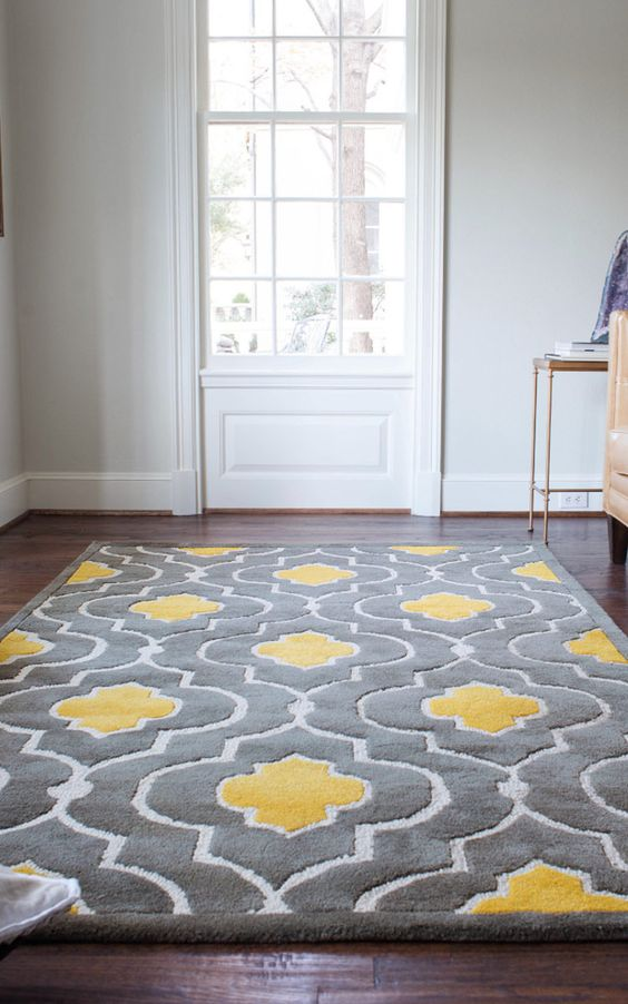 Merveilleux Grey And Yellow Rug Can Help You Rock These Colors In A Living Room