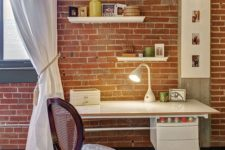 28 red brick is number one in adding texture to any space, especially if it's as simple as this one