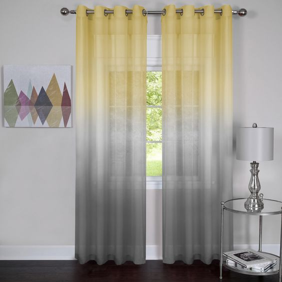 semi sheer curtain panel comes in two different ombre patterns and looks very eye-catching