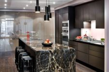 28 show off the veining of your marble countertop and make simple wooden cabinetry sparkle