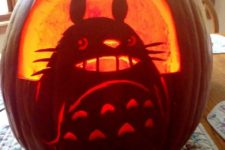 29 carved my neighbor Totoro pumpkin, which works as a lantern