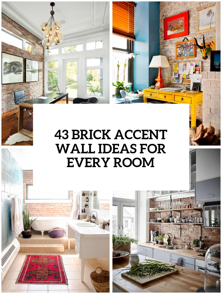 Trendy Brick Accent Walls For Every Room Cover