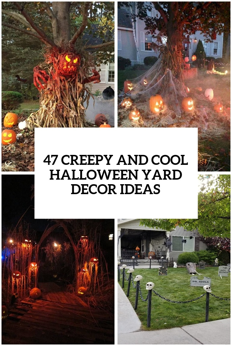 creepy and cool halloween yard decor ideas cover