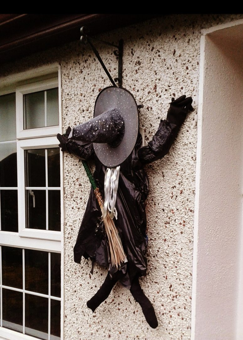 fun smashed witch decoration is a great idea for outdoor or a front door as if - Halloween Witch Decoration