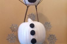 31 painted Olaf pumpkin to excite your kids