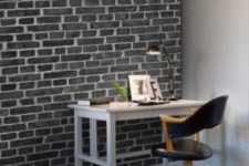 32 black brick wall panels are a great option for those who don't have real ones