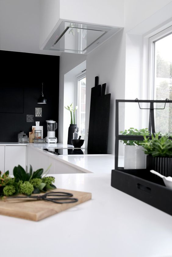 make just a black backsplash and a couple of touches if you don't want a gloomy look