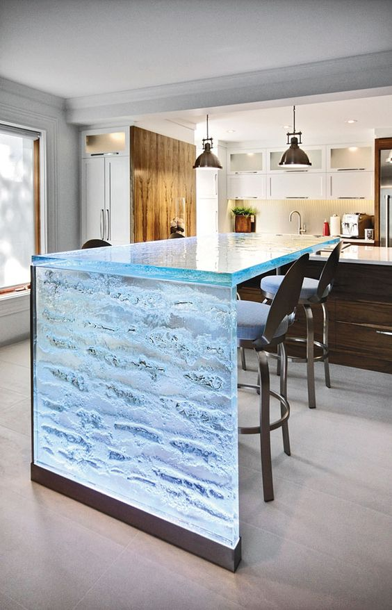 original tempered glass countertop makes your kitchen look frosty
