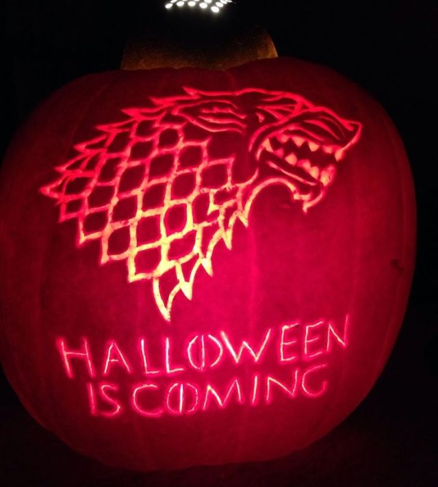 Game of Thrones carved lantern