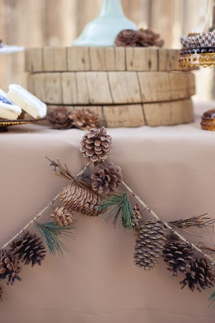 pinecones and fir branches work not only for the fall but also for the winter
