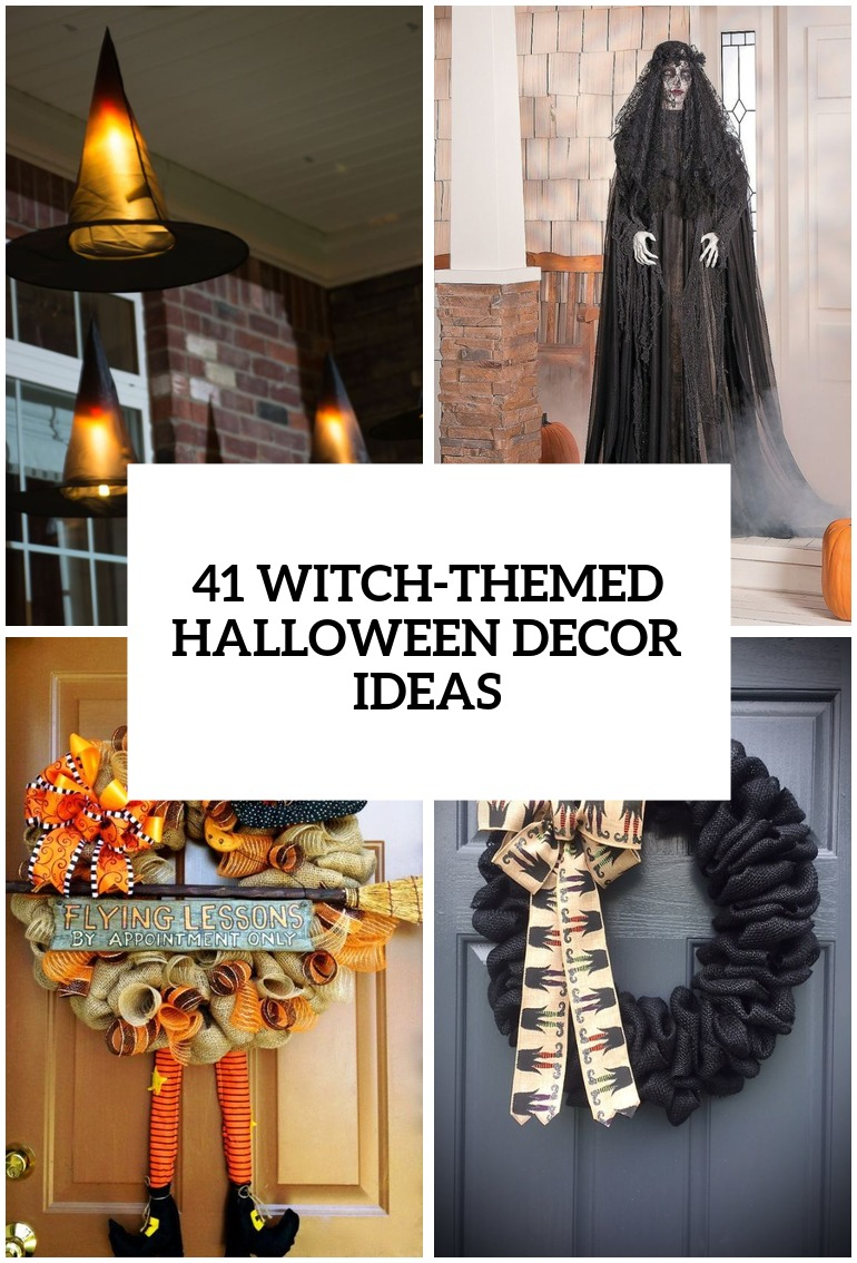witch themed halloween decorations cover