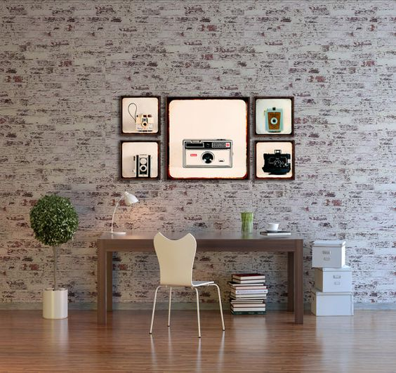 aged brick is a cool way to add a vintage and unique touch