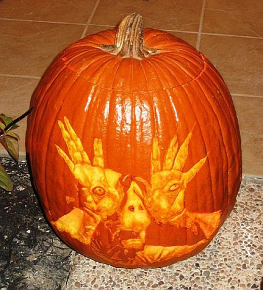 Pan's Labyrinth pumpkin carving