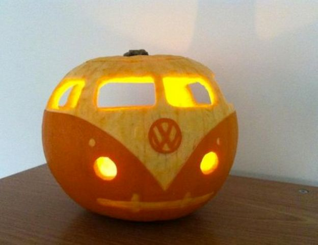 Pumpkin VW Lantern For Free Spirited Decor