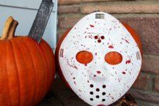 38 DIY Friday the 13th horror movie pumpkin