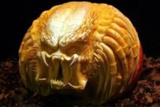 41 scary Predator carved pumpkin can frighten anyone
