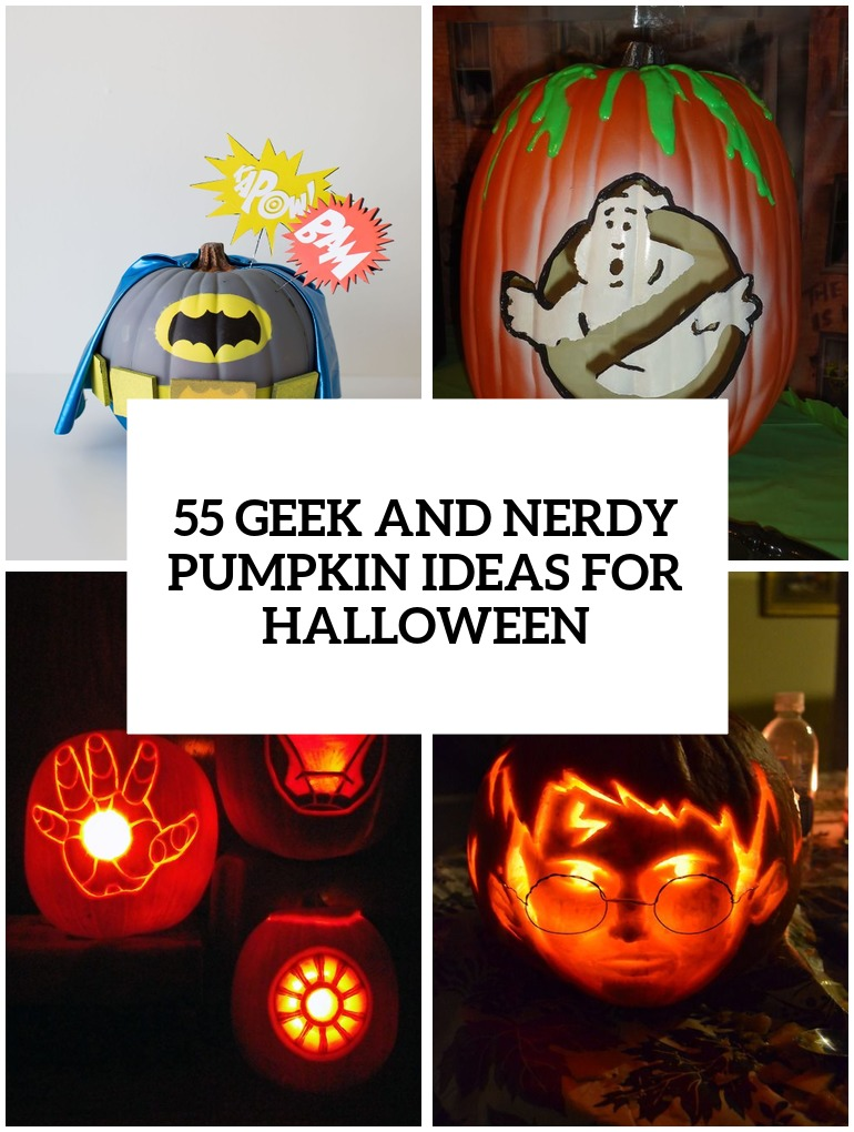 geek and nerdy pumpkin ideas for halloween cover