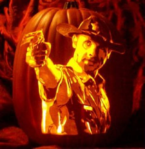 Carve of Rick Grimes from The Walking Dead