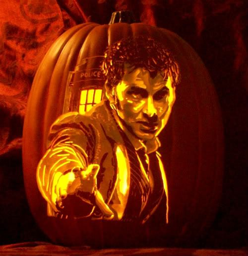 Doctor Who pumpkin carving