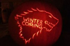 48 WINTER IS COMING from Game of Thrones Halloween nerdy pumpkin carving