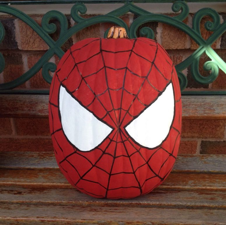 An easy painting project for spiderman's fans