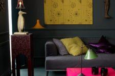 grey yellow living room ideas