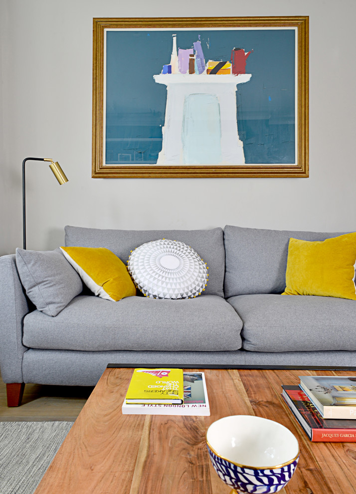 41 Stylish Grey And Yellow Living Room Décor Ideas - DigsDigs