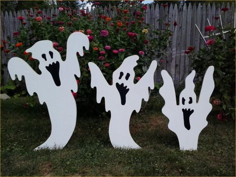 make a bunch of ghost sillhouettes out of plywood and you're good to go