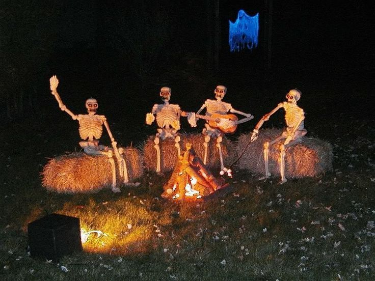 a bucnh of skeletons could have a nice party in your yard